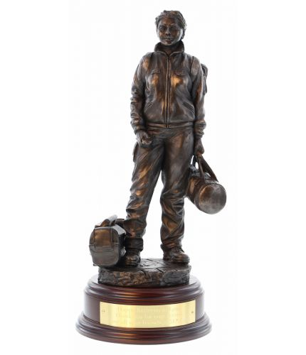 Ambulance Service Female Paramedic Bronze Farewell Gift