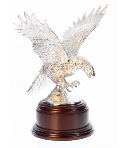 Army Air Corps Eagle, Polished Pewter