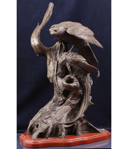Goshawk on Pheasant - Large Full Scale Sculpture