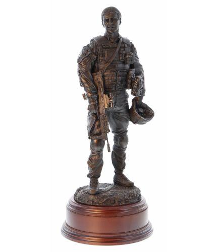 British Army Soldier, Post Patrol Debrief, Afghanistan Era