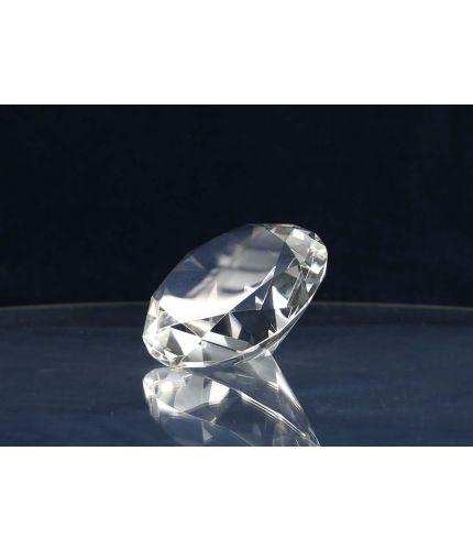 12cm Glass Diamond, Engraved