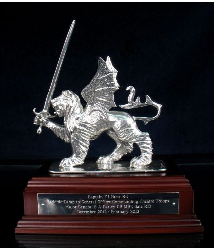 Pewter Lion & Sword, HQ Theatre Troops