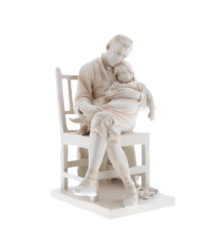 Motherless, Sculpture in an Ivory Style Finish