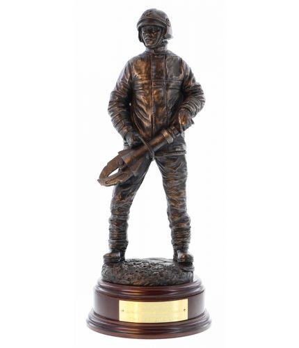 British Firefighter, Jaws of Life, Bronze Fire Service Retirement Award with personalised engraved brass plate makes a great gift for a retiring firefighter after years of service.