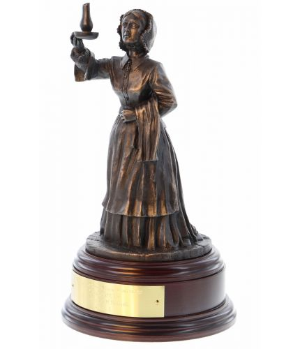 Our Florence Nightingale military nurse statuette is made in an 8 inch scale. This nursing retirement or long service gift for anyone who's served on our hospital wards and would like a cheerful reminder of their service. We include the wooden base and an