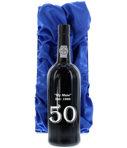 An engraved bottle of Fonseca Guinaraens Vintage Port. We include the a lovely satin box and engraving service as part of this product. Fonseca port makes an excellent gift idea for weddings, christenings, anniversaries and at Christmas