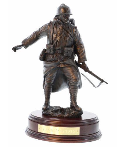 'Poilus', fantassin français, la Première Guerre mondiale, Bronze, Sculpture