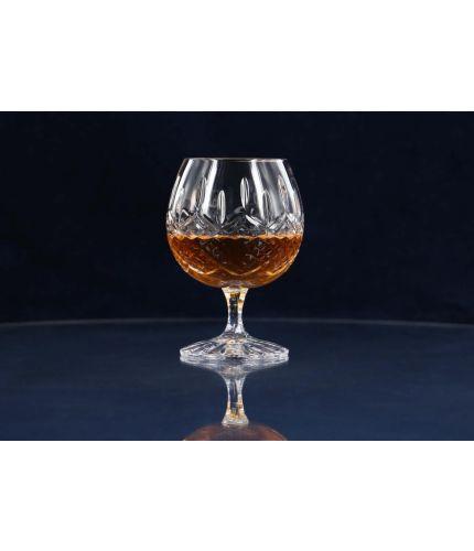 Fully Cut Crystal Brandy Goblet