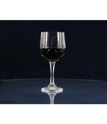 Fully Cut Crystal Red Wine Goblet
