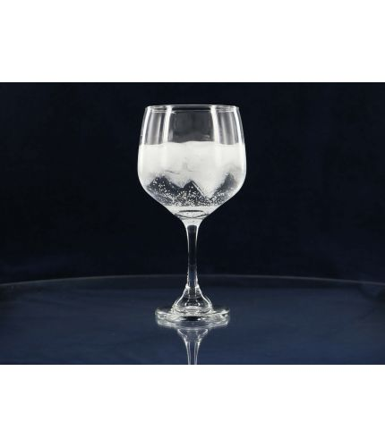 Gin Balloon glass. Perfect for long Gin drinks, this glass comes with inclusive personalised hand engraving.
