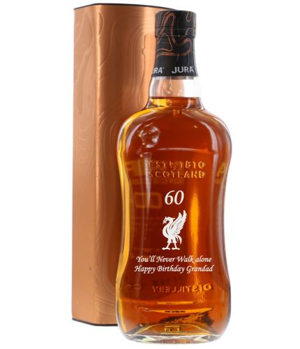 Isle of Jura, Single Malt Scotch Whisky, 10 Years Old, Engraved to your exact requirements. We sort out the engraving details during the ordering.