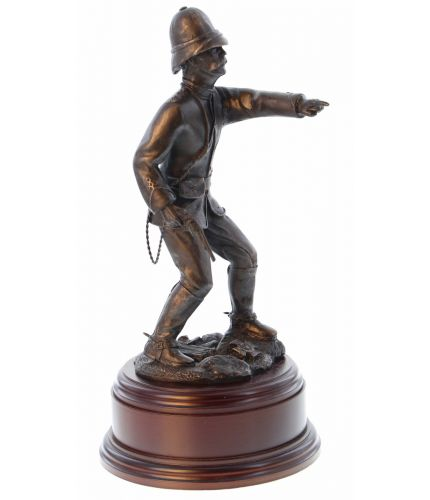 Bronze statuette of our Lieutenant Chard RE who took command of the defence of Rorkes Drift during the Zulu Wars. His calm and excellent tactical ability saved the day and earned him a well deserved Victoria Cross.