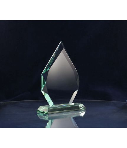Glass Flame Award, 19cm Tall, Engraved