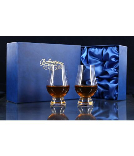 A Presentation Boxed Pair of Whisky Nosing Glasses. We offer a fully bespoke engraving service to go along with this product