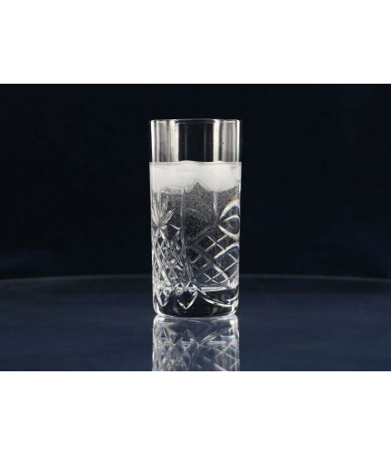 Water or Long Drink Panel Highball Tumbler, Crystal