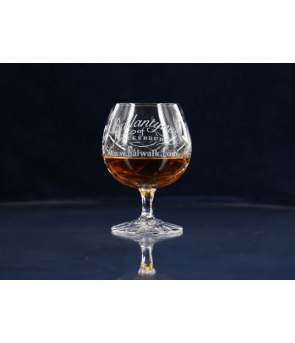 A Brandy goblet in the panel cut style. This item is engraved and the design, setup, pre-approval and engraving are Included on this piece of crystal. As this is a J product we only offer transit packing.
