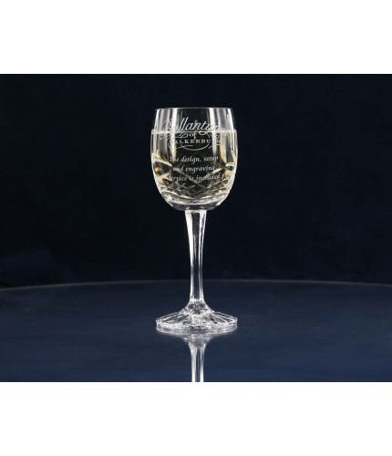 Panel Cut White Wine Glass