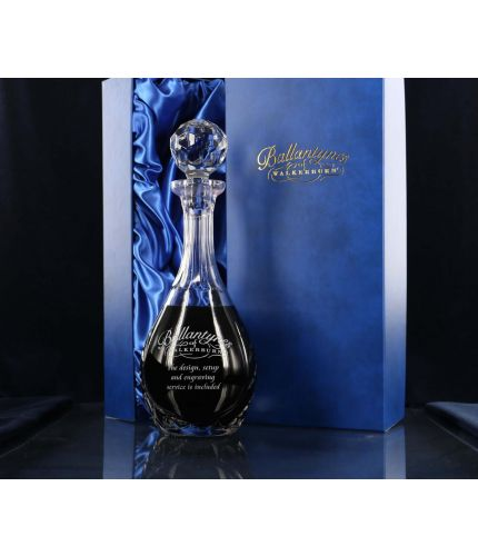 Panel Wine Decanter, Engraved and Gift Boxed