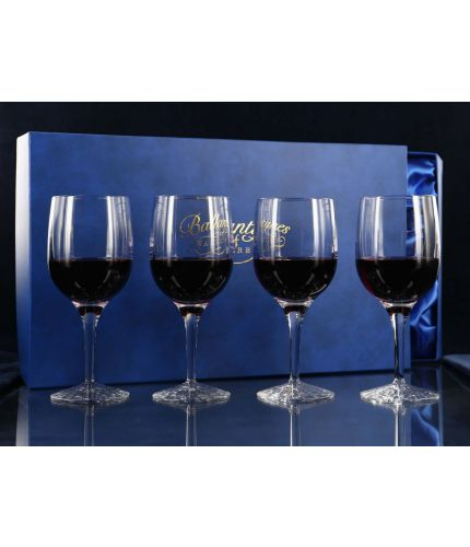 A set of four fully engraved Crystal Plain Style Champagne Flutes presented in a lovely satin lined dark blue gift box. An ideal gift to commemorate a very special occasion. We sort out the engraving with you once you place your order.  From agreeing the