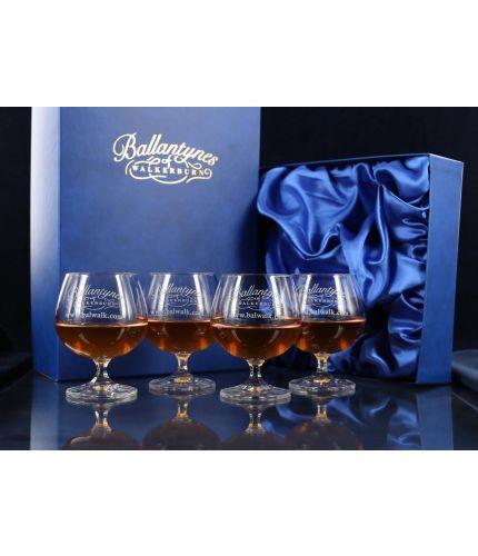 Gift Boxed Set of Four Plain Brandy Goblets