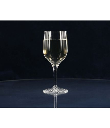 A high quality crystal White Wine glass, in a simple style. We offer this glass with a personalised hand engraving service, the price shown includes all work including design.