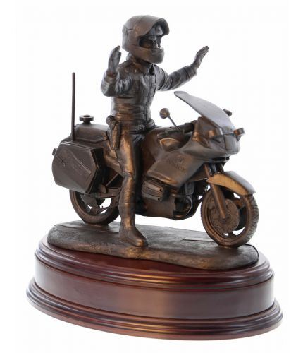 "A Police Officer on his BMW Motorcycle is sculpted in an 8"" scale and the figurine commemorates the officers serving in the Motorcycle Divisions of the British Police Service."