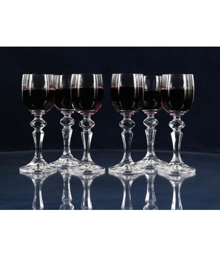 Six port glasses, can be personalised with hand engraving.