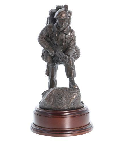 Infantry Alert Soldier Statue, Handmade Retirement Gift