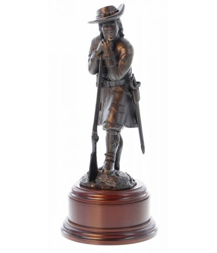 This is a statuette of the Duke of Albanys' Maritime Regiment in 1664. The regiment were ordered to provide protection for the Kings Ships and thus became the first British Marine Regiment. They are the Forebears of the Royal Marines.