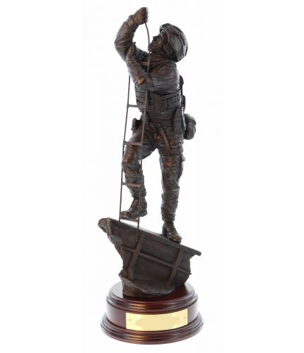 Royal Marines Commando MIOPS Sculpture. This makes the perfect Unit Retirement and Farewell Gift. We sell it complete with the engraved wooden base.