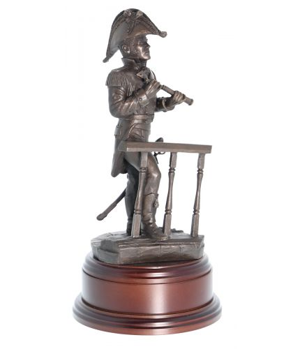 "Royal Navy Seagoing Captain from the Napoleonic Wars. This 8"" scale statuette makes the perfect Royal Navy Wardroom farewell or retirement gift to any Officer in the Royal Navy. We include the wooden base and brass plate."