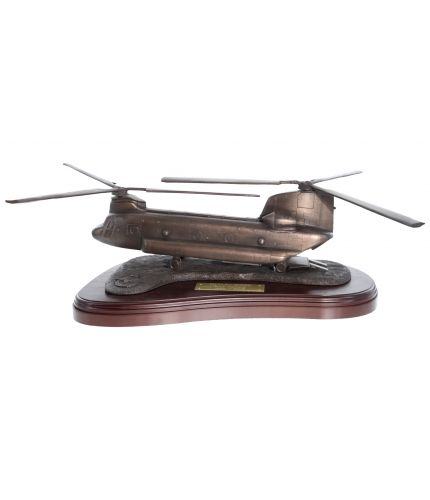 Chinook Helicopter, Royal Air Force, Cold Cast Bronze Finish