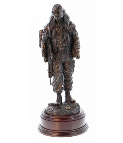 Royal Marines Knackered Commando Sculpture. This makes the perfect Unit Retirement and Farewell Gift. We sell it complete with the engraved wooden base.