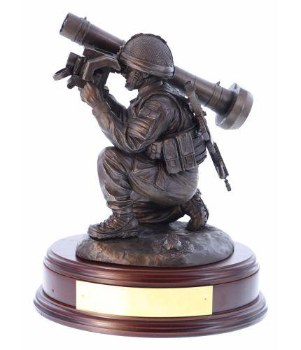 Royal Marines Commando Javelin Anti Tank Statuette