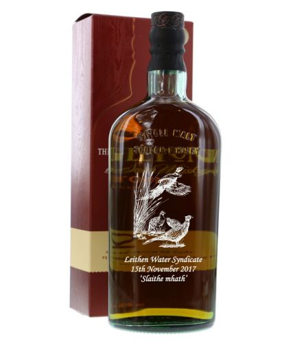 The Singleton, 12 Year Old Single Malt Highland Scotch Whisky hand engraved with your own personal meassage which is all included in the price. We sort out the engraving later and will not start work until you approve the draft.