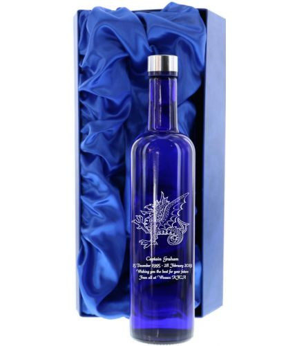 A 70cl bottle of Skyy Vodka. This bottle is offered hand engraved with a personal design of your choice and we'll go through the process of designing the bottle after you order.