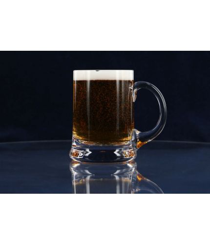 A hand engraved straight sided style of beer tankard. The price includes all engraving with text and images of your choice.