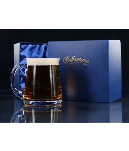 Beer Tankard, Engraved, Traditional Style with Presentation Box