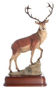 Painted Highland Stag Statuette