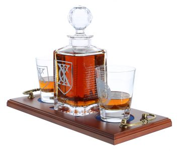 Engraved Whisky Tray Sets
